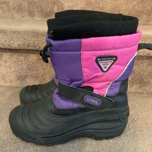 Girls kids Totes winter snow boots purple black 5